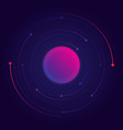 visualization orbital motion particles vector image