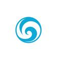 water wave icon design vector image vector image