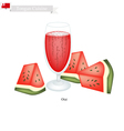 Watermelon Otai or Tongan Watermelon and Coconut vector image vector image