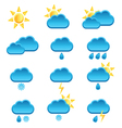 weather icon with sun and cloud vector image