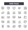 web page line icons for web and mobile design vector image vector image