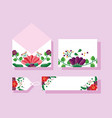 wedding save date flowers banner or label vector image