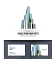 city logo icon emblem template business card vector image