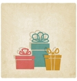 old background with presents vector image