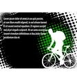 bicyclist halftone background vector image