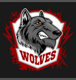 wolves sports mascot howling wolf vector image