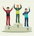 awards ceremony the style is flat vector image vector image