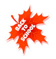 back to school education with red vector image vector image
