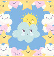 background clouds sun stars sky fantasy decoration vector image vector image