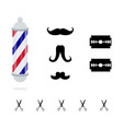 barber pole vector image