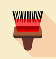barcode reader icon flat style vector image vector image