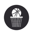 Basketball design over white background vector image