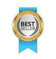 best seller golden label sign vector image vector image