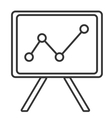 black and white office board graphic vector image