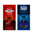 Black Friday Sale Vertical Banners vector image