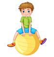 Boy and ball vector image vector image