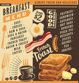 breakfast menu vector image