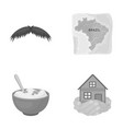 catering travel business and other monochrome vector image vector image