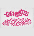 chocolate hand drawn signs and numbers of sweet vector image vector image