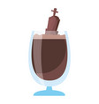 chocolate milkshake with grave halloween vector image vector image