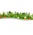 Christmas Background With Border vector image vector image