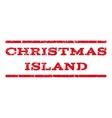 Christmas Island Watermark Stamp vector image vector image