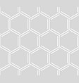 comb seamless pattern geometric white hexagonal vector image