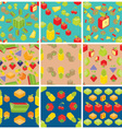 Cubic fruits pattern vector image