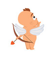 cupid angel love character for valentine day or vector image vector image