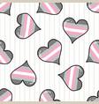 cute demigirl heart cartoon seamless vector image vector image