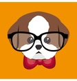 cute portrait doggy icon design vector image vector image