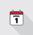date calendar icon theme vector image