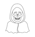 Death icon in outline style isolated on white vector image vector image
