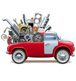 delivery truck with car parts vector image