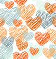 doodle Funny seamless pattern with orange and blue vector image vector image