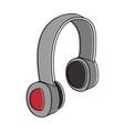 earphones audio isolated icon vector image vector image