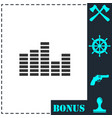 equalizer icon flat vector image vector image