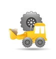 excavator truck gear wheel icon graphic vector image vector image