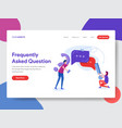 frequently asked question vector image vector image