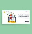 girl student learning online watch webinar using vector image vector image