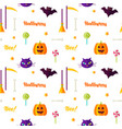 happy halloween print seamless pattern vector image