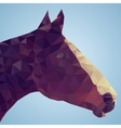 head a bay horse in triangular style vector image