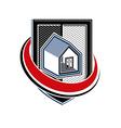Home insurance conceptual icon protection shield vector image