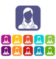 hr management icons set vector image vector image