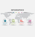 infographic design template 4 elements steps vector image vector image