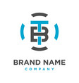 initial logo tb technology vector image