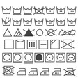 Laundry Icons Set Washing Symbol vector image vector image