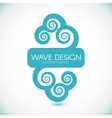 Logo Design Wave Element vector image