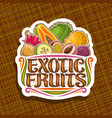 logo for exotic fruits vector image vector image