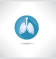 lungs bronchi icon human organ anatomy sign vector image vector image